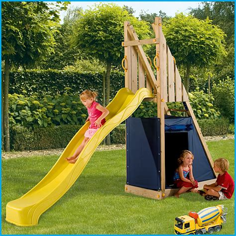 outdoor swings and slides the slide and den set outdoor playground equipment