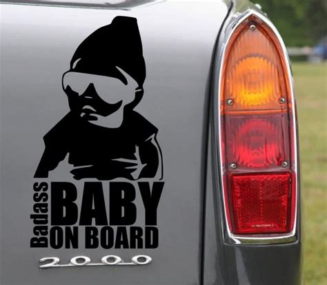 Little Store Of Home Decor Badass Baby On Board Funny Car Vinyl Sticker Wall
