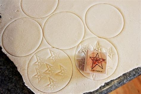 stamped salt dough ornaments dough recipe salt dough