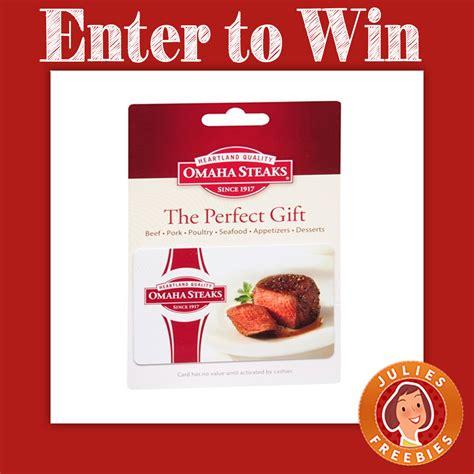 Omaha Steaks Gift Cards - win an omaha steaks and hayneedle gift card julie s freebies