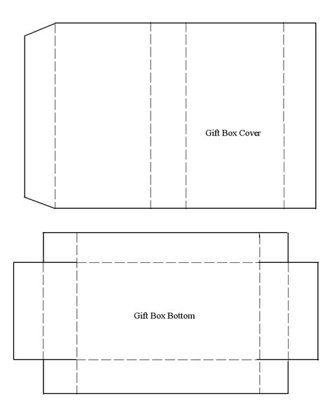 card box template pdf 7 best images of free printable gift box