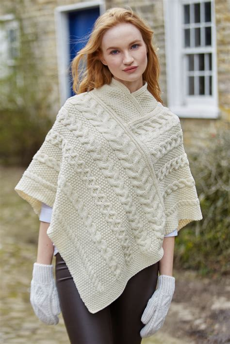 knit poncho merino aran knit poncho ebay