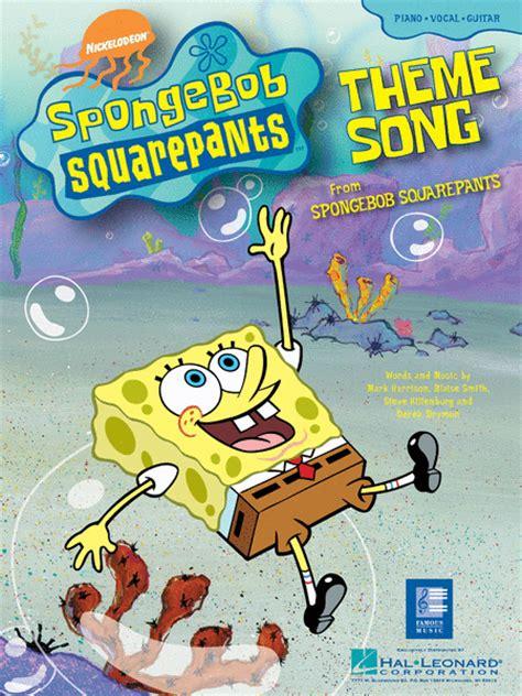 theme song spongebob spongebob squarepants theme song sheet music sheet