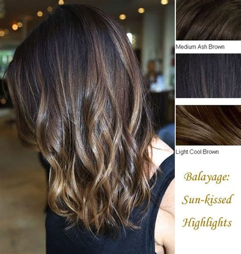 spring highlights for medium hair 18inches medium ash brown light cool browm balayage clip