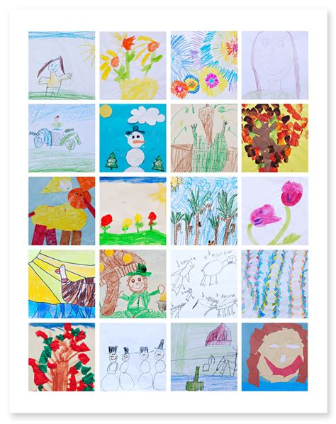 project collage template design projects ways to organize and display artwork