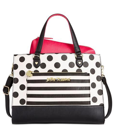 betsey johnson bag in bag tote in black dot lyst