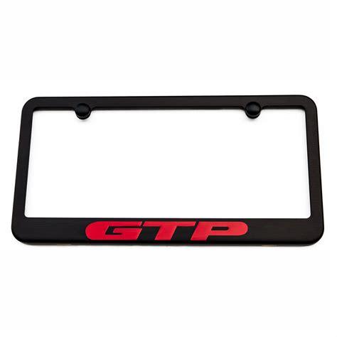 Pontiac License Plate Frame pontiac gtp license plate frame satin black