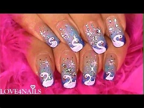 imagenes para pintar uñas paso a paso decoracion de u 241 as tutorial como pintar un cisne youtube