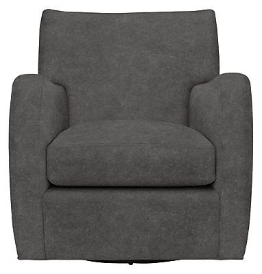 Brennan Leather Swivel Chair Modern Accent Lounge Room And Board Swivel Chair
