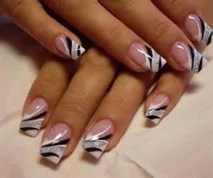 Black and silver nail art nails pinterest