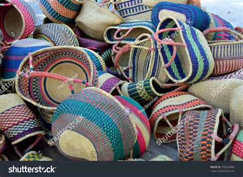 Handmade Baskets For Sale - handmade colorful shopping baskets for sale at outdoor