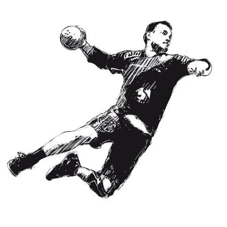 stickers attaquant handball  stickers malin