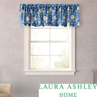 laura ashley emilie drapes laura ashley emilie floral window valance overstock