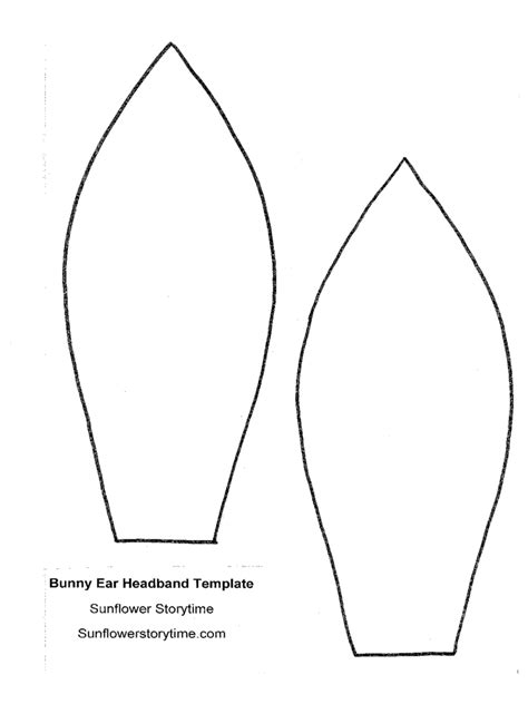 bunny ear template 4 free templates in pdf word excel