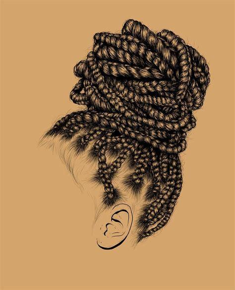 hair art gerrell sanders illustration hair