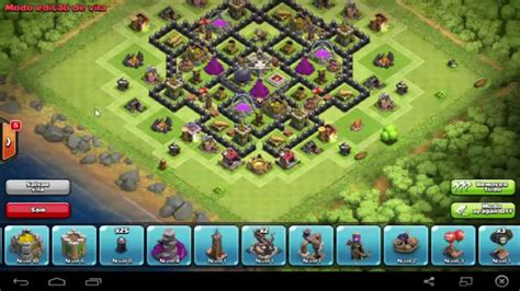 layout cv 8 farming youtube clash of clans layout de farm para cv8 youtube