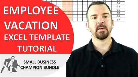 vacation planner excel template employee vacations youtube