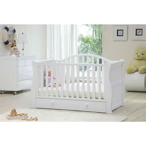 White Sleigh Cot Bed Buy Babylo Sleigh Cot Bed White Preciouslittleone