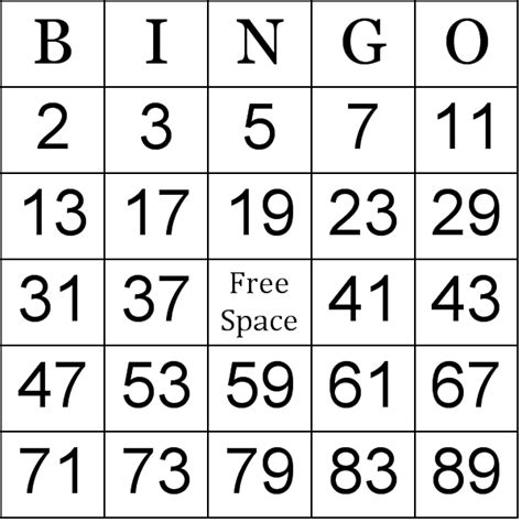 free printable number bingo cards free printable number bingo cards