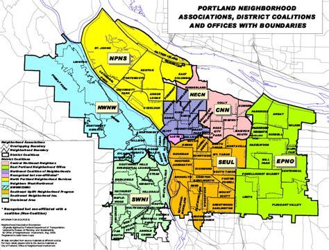portland neighborhood map map of portland neighborhood boundaries swimnova