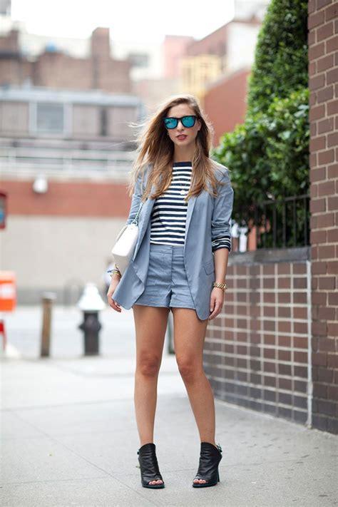 Tokyo Blazer Koreanstyle s light blue blazer white and black horizontal