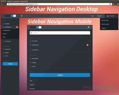 membuat blog full responsive membuat sidebar navigation responsive di blog