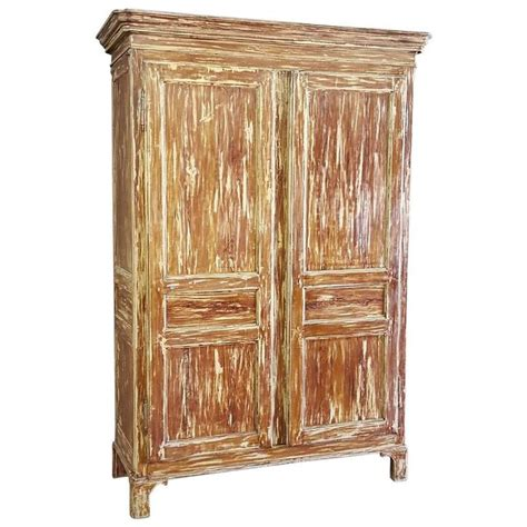 solid pine armoire 19th century swedish gustavian painted scraped solid pine