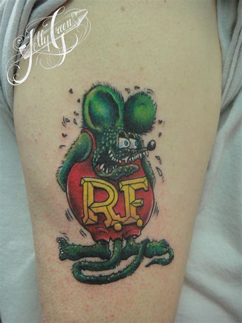 rat fink tattoo rat fink by green tattoos