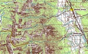 tin cup colorado map 4x4explore tincup pass