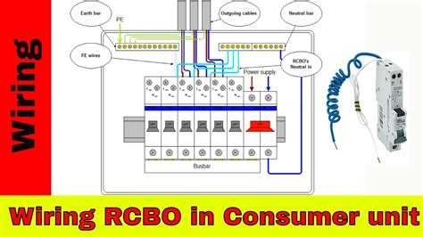 how to wire rcbo in consumer unit uk rcbo wiring