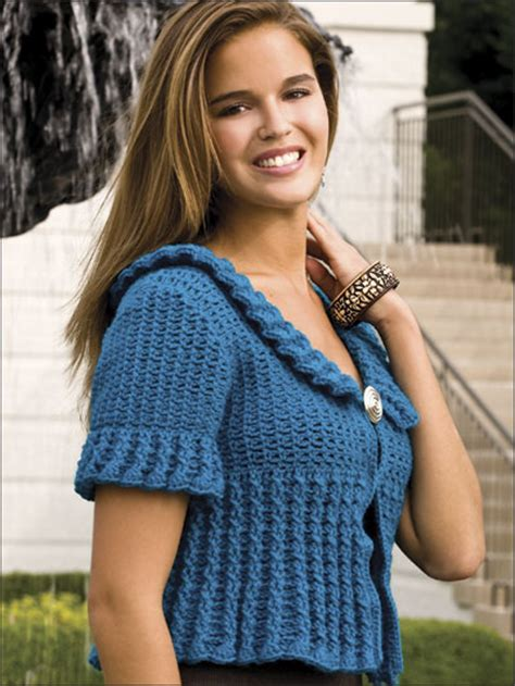 Sweety Cardi free crochet pattern trendy cabled cardi the crochet dude