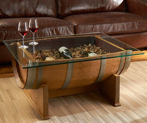 oak wine barrel cocktail table the green