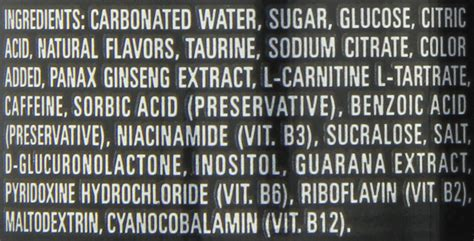 u energy drink ingredients the gallery for gt white energy drink zero ultra