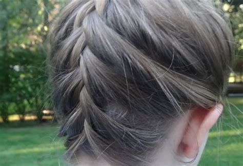 trimming your hair upside down how to make a upside down french braid