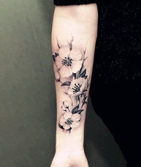 fake tattoo skin temporary plant large flowers flower water