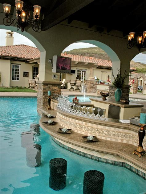pool and bar photos hgtv