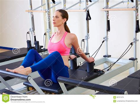 pilates reformer stomach flat stock photo image 58757479