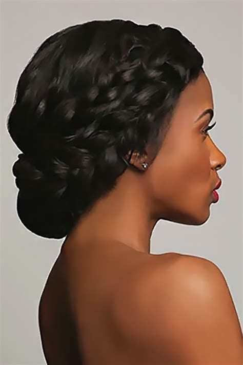 To Medium Hairstyles For Black Hair by Best 25 Black Wedding Hairstyles Ideas On