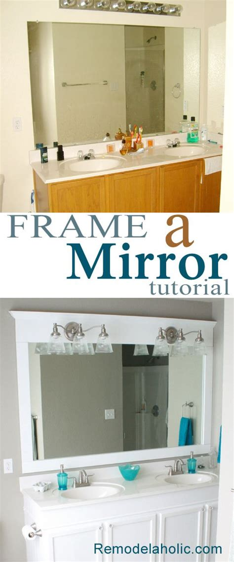 framing your bathroom mirror framing a large bathroom mirror diy frame tutorials and