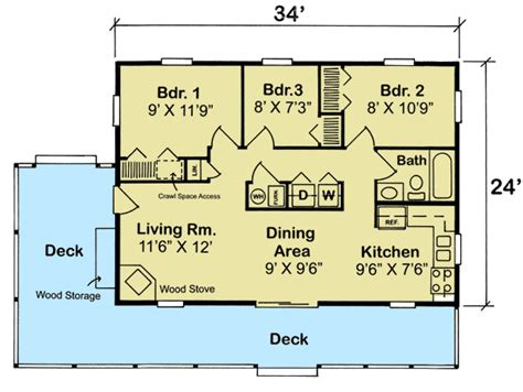 3 bedroom cabin plans 3 bedroom vacation cottage 11390g 1st floor master