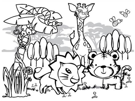 printable coloring pages jungle animals coloring pages of rainforest animals az coloring pages