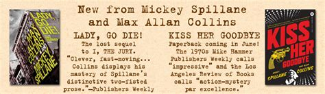 Mike Hammer Go Die the official fomac website new from mickey spillane and