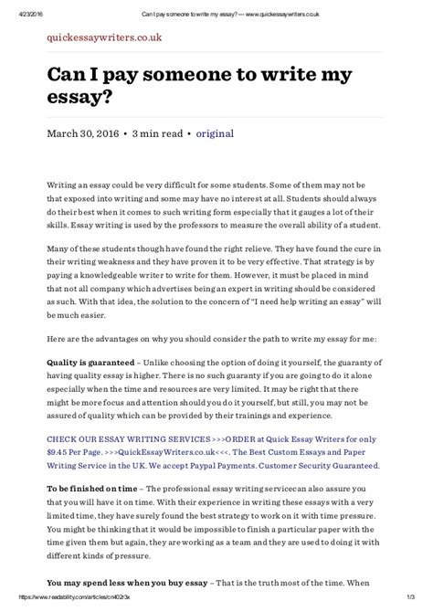 Pay To Write Essays by Pay Someone To Write An Essay For You Essay Writing Sentence