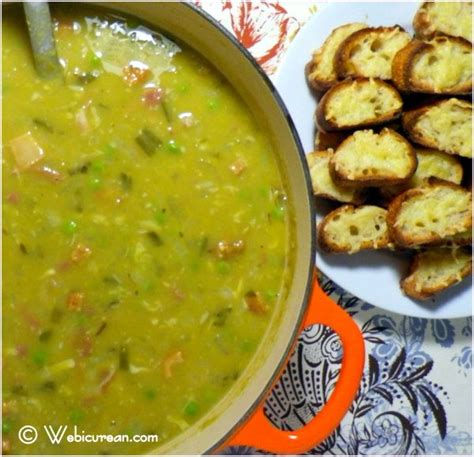 award winning split pea soup with gouda crostini award winning split pea soup with gouda crostini webicurean