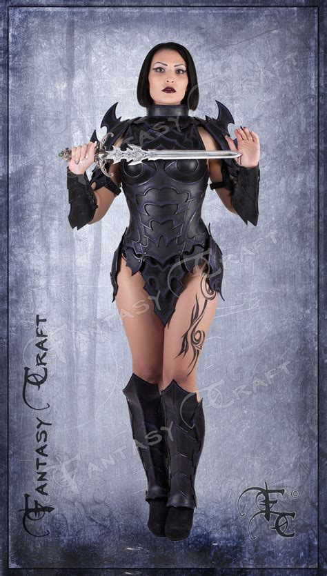 fantasy film uk craft drow or dark elf leather corset armour by fantasy craft on