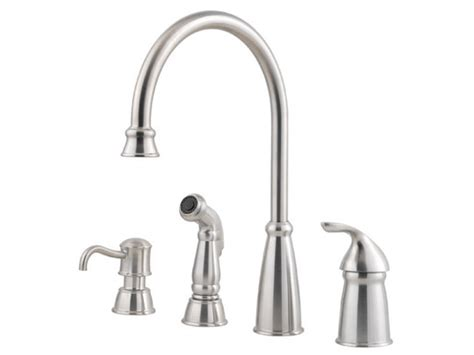price pfister gt26 3nss marielle stainless steel single pfister avalon 1 handle kitchen faucet stainless steel