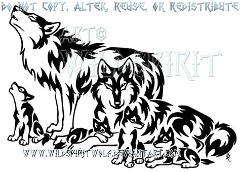 tribal wolf family design by wildspiritwolf on deviantart