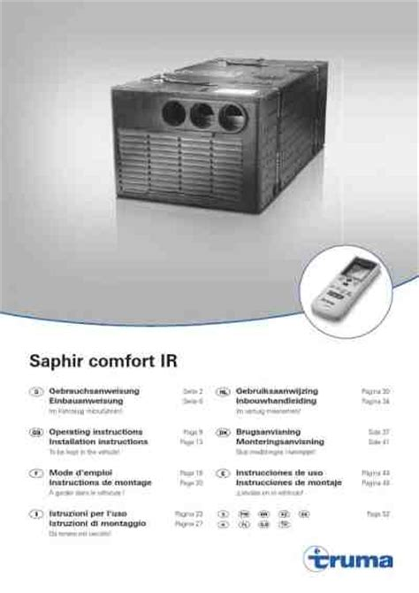 Comfort Aire Air Conditioner Manual by Truma Saphir Comfort Air Conditioner Manual For