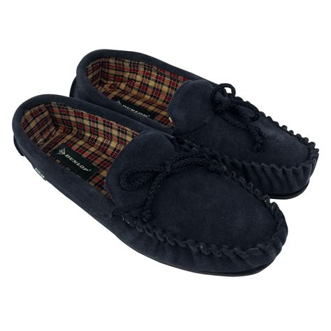 moccasin slippers mens mens dunlop moccasin suede leather slippers gents