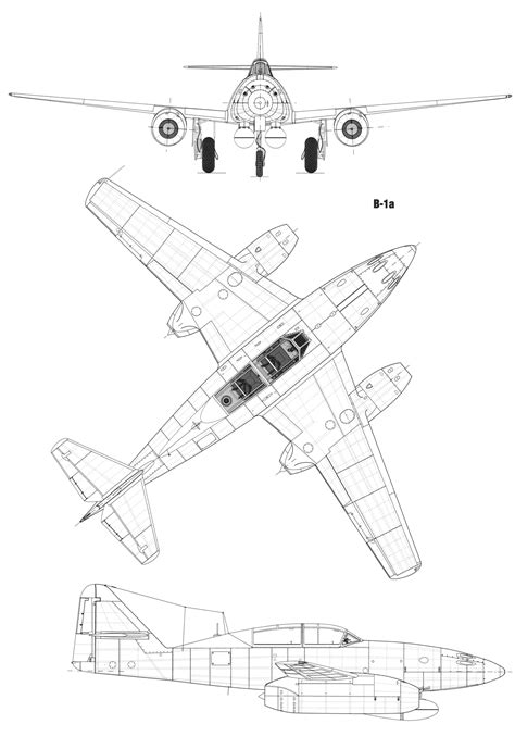 blueprint drawing free messerschmitt me 262 blueprint free blueprint